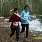 Sportlerinnen auf der Strecke