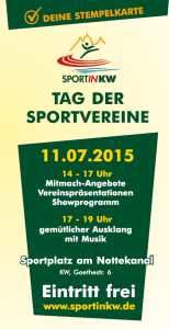 flyer tag der sportvereine 11.07.15